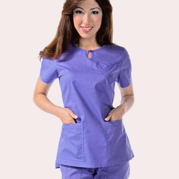 bee0c97aba8 2XL Koi Medical Scrub Top 178-34 wisteria. M_5c1698099519965eac1c7b28